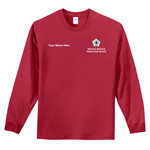 PC61LS - WB Pilot Logo - EMB - Long Sleeve 100% Cotton T-Shirt