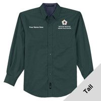 TLS608 - WB Pilot Logo - EMB - Tall Woven Dress Shirt