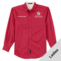 L608 - WB Pilot Logo - EMB - Ladies Woven Dress Shirt